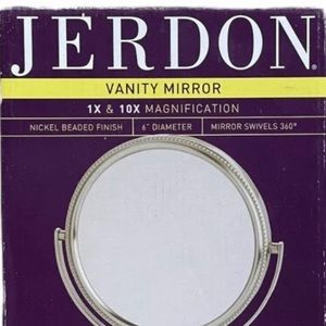 """Jerdon Bath - Two Sided Table Top Vanity Mirror 6"""""""